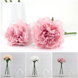 Artificial Peony Flower Fake Floral Hydrangea for Wedding Bridal Bouquet Party Home Decor