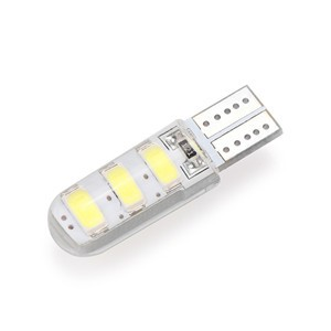 Lemonbest  - 10pcs Car T10 W5W 168 194 3W 6-LED Width Light Reading Lights License Plate Lamp Side Marker Bulbs 5730SMD 6500K 12V