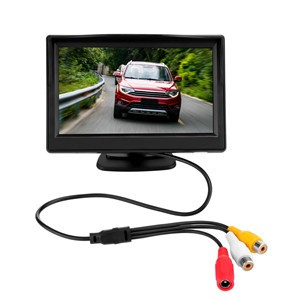 5 Inch Car TFT LCD Rear View Display Monitor Kit with Waterproof Night Vision Wide Angle Car Rearview Camera Car Reverse Backup Parking Kit Reversing Priority