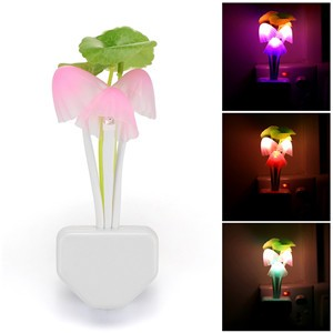 Lemonbest - Sensor Night Lights Plug-in LED Light,Turn on /off Dusk to Dawn,Color Changing Wall Lighting, 1 Pack