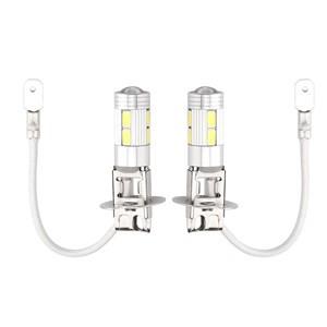 2pcs 10W 6000K H3 10-LED Car Fog Light Lamp 5630 SMD DRL Day Running Driving Lights Bulb 6000K 12V