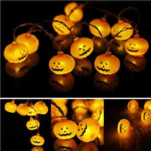 Lemonbest -1.2m / 3.9ft  10 LED pumpkin string lights Decorative Decor lights string lights Props string lights Halloween Lanterns lights