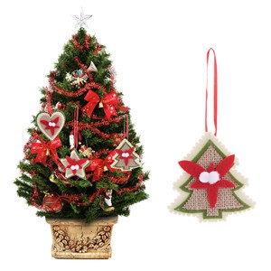 Christmas Tree Ornament Love / Tree / Star  Pendant Hanging Xmas Baubles Party Decoration