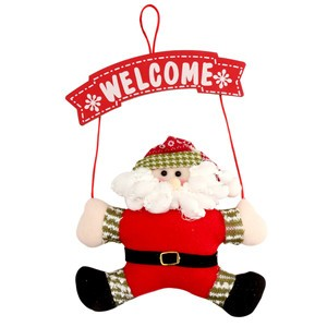 Santa Claus Door Hanging Christmas Tree Home Decor Ornaments Xmas Gift