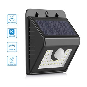 Lemonbest - 30LED Solar Power PIR Infrared PIR Motion Sensor Wall Light Outdoor Waterproof Garden Driveway Yard Pathway Wall Patio Deck Steps Lamp