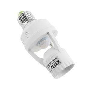 Lemonbest 360 Degree Detection PIR Infrared Motion Sensor E27 LED Light  LED Lamp Base Holder Screw Bulb Socket Day & Night 2 Modes