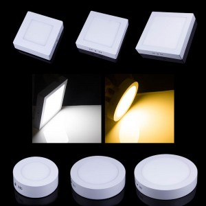 Lemonbest - 9W 15W 21W Dimmable LED Surface Panel Wall Ceiling Down Lights Mount Bulb Lamp