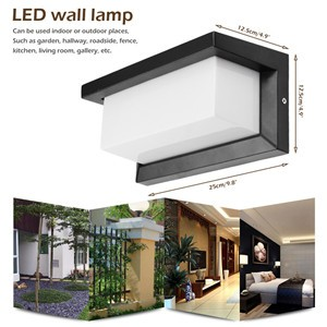 Waterproof 15W LED Wall Lamp Light Cool White for Corner Road Pathway Step Stair AC85-265V