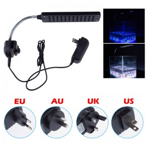 LemonBest - New High Power 48LED Aquarium Fish Tank Water Plant 3 Mode Clip White & Blue Light Bulb Lamp