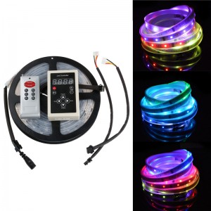 5M 6803 IC 5050SMD Digital RGB 150LED Strip Light IP67 String Lamp 30LED/m DC 12V+  Controller + IR Remote
