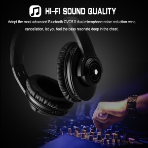 Wireless Bluetooth Headset BT4.1 Stereo Adjustable Folding Headphones On Ear with Mic and Volume Control for Smartphone Adults Kids Girls 1300mAh 200H Standby Time 18H Talk