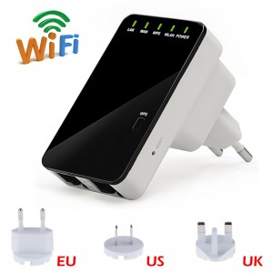 LemonBest-Wireless N Signal Repeater Dual Band and Range Extender 300Mpbs 802.11N/B/G Access Point Wifi Router
