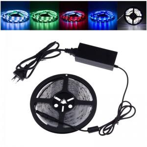 LemonBest-RGB 5M 16.4FT Waterproof SMD 5050 150LEDs LED Strip Light Color changing IC 2811 RGB Flexible Lighting Strip + 6A 12V Adapter