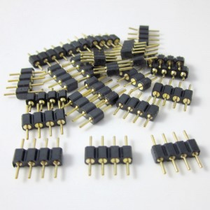 30pcs/lot  4 Pin Connector Male for LED RGB Strip Lights 5050 3528 Insert Use