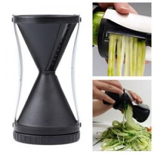 Lemonbest-Funnel Model Spiral Slicer Vegetable Shred Device Cutter Carrot Piece Grater