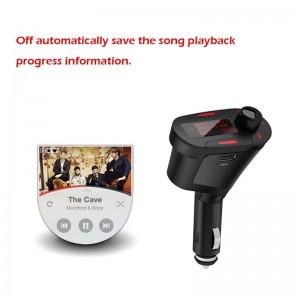 Lemonbest- (Red)  Car Kit MP3 Player Wireless Modulator Radio FM Transmitter with Remote Backlight