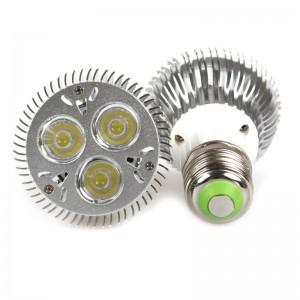 LemonBest - Dimmable 3*3W E27 PAR20 LED Bulb Small Spotlight Lamp Cool White