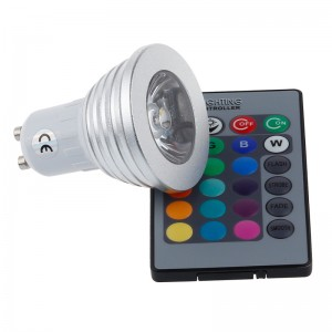 LemonBest - 4W GU10 RGB LED Light Bulb Remote Control Spotlight Lamp AC 100-245V For Home Party Lighting Decoration