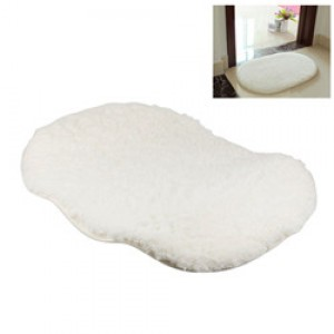 LemonBest-(White)Bathroom Shaggy Rug Antiskid Bath Mat Floor Shower Bedroom Carpet Floor Footcloth