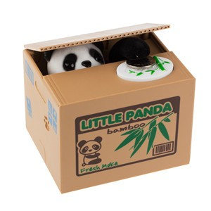 LemonBest-Panda Piggy Bank Automated Itazura Coin Bank Steal Money Saving Box