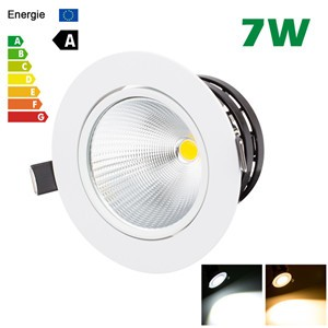LemonBest-7W LED COB Ceiling Light Recessed Spotlight Downlight Warm White/Cool White AC 100-245V