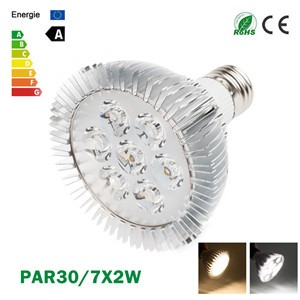 LemonBest-Ultra Bright CREE E27 Dimmable PAR30 7x2W LED Light Bulb Lamp AC85-265V