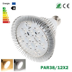 LemonBest-Ultra Bright CREE E27 Dimmable PAR38 12x2W LED Light Bulb Lamp AC85-265V