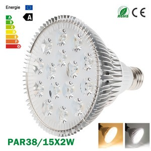 LemonBest-Ultra Bright CREE E27 Dimmable PAR38 15x2W LED Light Bulb Lamp AC85-265V
