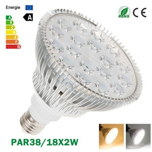 LemonBest-Ultra Bright CREE E27 Dimmable PAR38 18x2W LED Light Bulb Lamp AC85-265V
