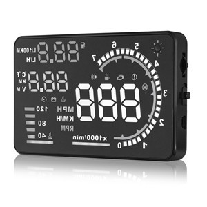 "LemonBest-5.5"" Car HUD Head Up Display OBD II 2 Speed Warning System Fuel Consumption Plug&Play"