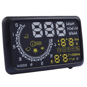 LemonBest-5.5inch Car HUD Head Up Display OBD2 OBDII Interface Plug/Play KM/h MPH Speeding Warning