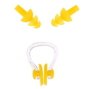 LemonBest-Silicone Swimming Ear Plugs and Nose Clip Combo Set with Case box