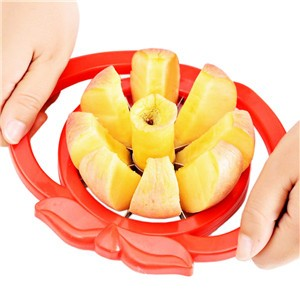 LemonBest-Apple Pear Corer Slicer Cutter Core Handed Wedger Fruit Cut Segments (Color Random)