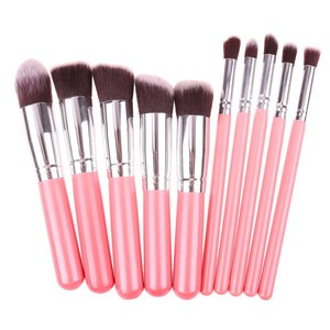 LemonBest-10pcs Makeup Make Up Brush Set Cosmetic Tool Eyeshadow Foundation Concealer