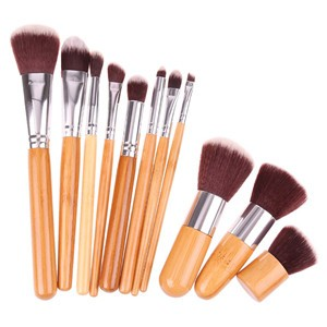 LemonBest-11Pcs Bamboo Handle Makeup Make Up Brush Set Cosmetic Tool Eyeshadow Foundation Concealer