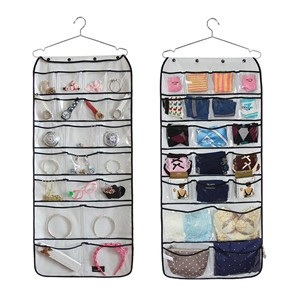 LemonBest-Dual-sided 42 Pocket Gadget Organizers Accessories Hanging Closet Storage Pouch with Hanger for Home Travel