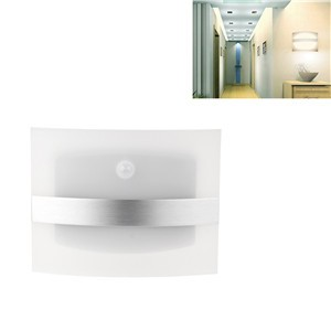 LemonBest-Motion Sensor Activated Wall Sconce Battery Operated Wireless Night Light Auto On/Off