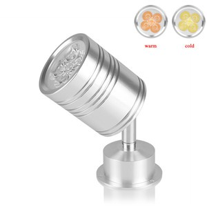 LemonBest-5W 360 Degree Rotary LED Light Bulb Spotlight Lamp with Moving Head Warm White AC/DC 12V
