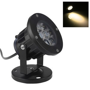 LemonBest-7W LED Lawn Garden Flood Light Yard Patio Path Spotlight Lamp with Base Waterproof
