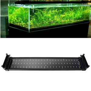 LemonBest-Aquarium Fish Tank SMD LED Light Lamp 11W 2 Mode 50cm 60 White + 12 Blue EU/UK/US Plug