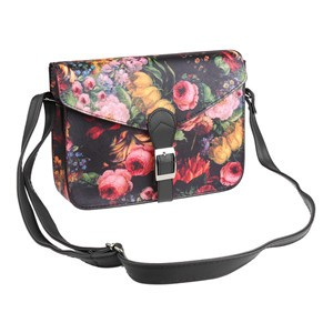 LemonBest-Vintage Women Handbag Flower Printing Leather Shoulder Bag Satchel Messenger Bag Hobo Tote