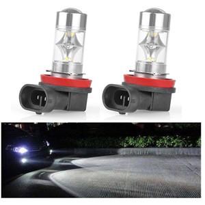 LemonBest-2pcs H8 Samsung 2323 SMD 12 LED Car Fog Light Headlight Day Running Driving Lamp Bulb Cool White 12-24V