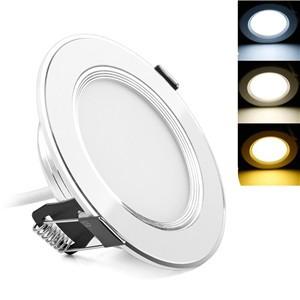 LemonBest-Ultra Slim  3W/5W/7W/9W  3-Color LED Panel Down Light Recessed Ceiling   Light Spotlight AC 100-245V