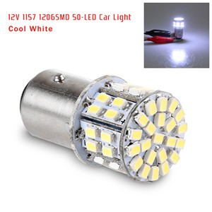 LemonBest-12V 5W 1157 BAY15D SMD 50 LED Car Tail Brake Turn Signal Light Fog Lamp Bulb   Cool White