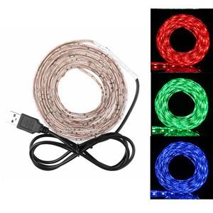 LemonBest-50cm/ 1m/ 2m  Waterproof RGB 5050 SMD USB 30LED Strip Light String Lamp DC 5V