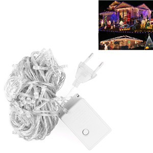 LemonBest-10m/33ft 6W RGB 100-LED String Fairy Light Lamp Indoor Outdoor for Xmas   Christmas Wedding Party Warm White EU/US Plug
