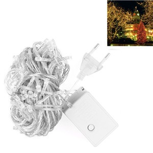 LemonBest-10m/33ft 6W 100-LED String Fairy Light Lamp Indoor Outdoor Warm White for Xmas Christmas Wedding Party Warm White EU/ US Plug