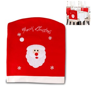 LemonBest-Christmas Santa Claus Chair Cover for Decor Xmas Holiday Festive   49*55cm/19.3*21.6""