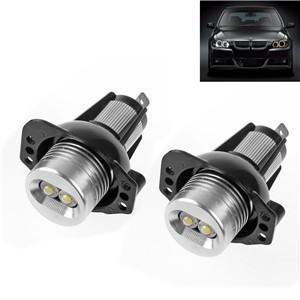 LemonBest-2pcs 6W White Angel Eyes LED Halo Ring Marker for BMW E90 E91 325i 328i 335i 3