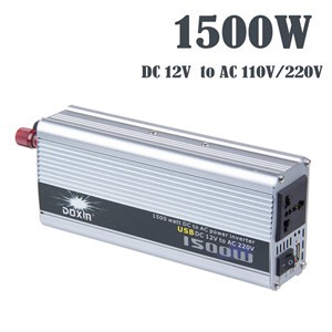 LemonBest-1500W Car Power Inverter Converter DC 12V to AC 220V Modified Sine Wave Power with USB